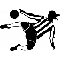 Stickers Footballeur 100x70cm