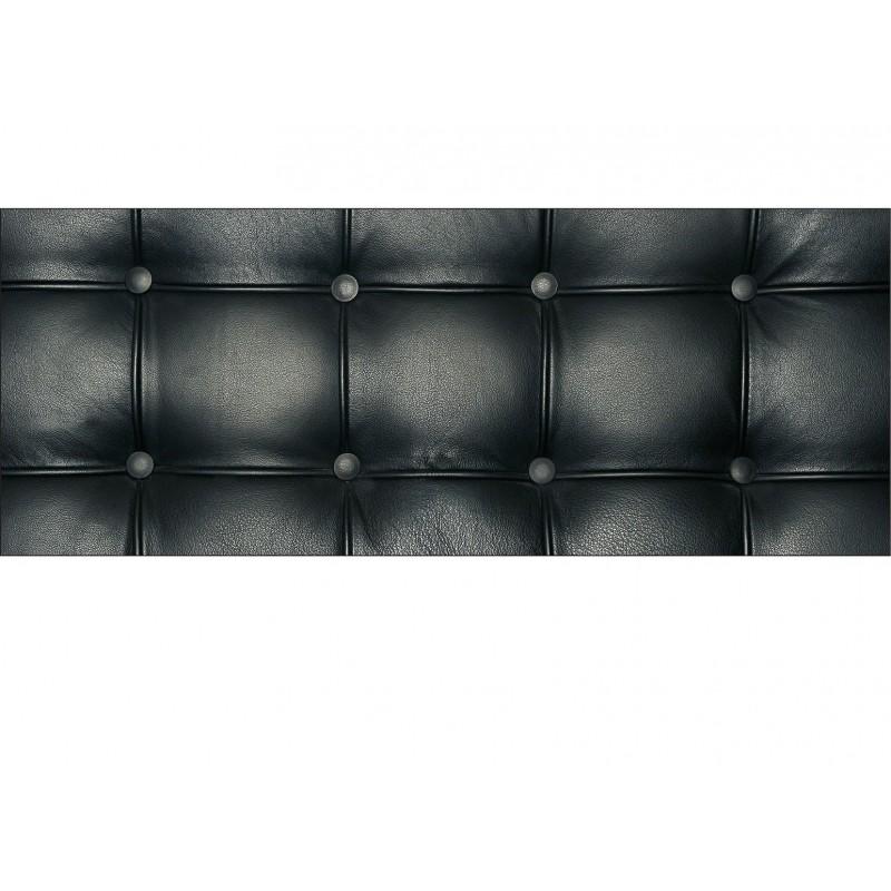 stickers t te de lit capitonn e noir art d co stickers. Black Bedroom Furniture Sets. Home Design Ideas