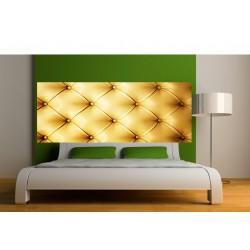 Stickers tête de lit Capitonnée doré