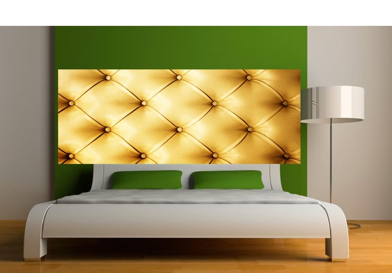 Decoration Murale Pour Tete De Lit stickers tête de lit capitonnée doré - art déco stickers