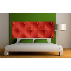 Stickers tête de lit Capitonnée rouge