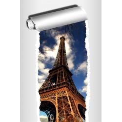 Sticker Trompe l'oeil déco Paris Tour Eiffel