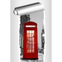 Sticker Trompe l'oeil déco Cabine téléphonique anglaise