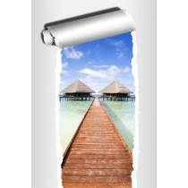 Sticker Trompe l'oeil déco Les Maldives