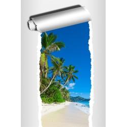 Sticker Trompe l'oeil déco Les Tropiques