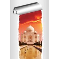 Sticker Trompe l'oeil déco Temple Taj Mahal