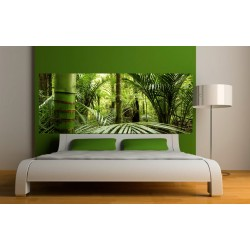Stickers tête de lit Forêt Bambous