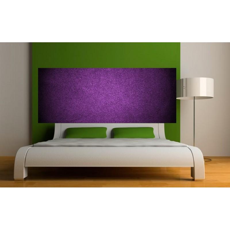 stickers t te de lit couleur violet art d co stickers. Black Bedroom Furniture Sets. Home Design Ideas