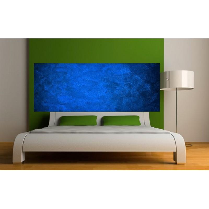 stickers t te de lit couleur bleu fonc art d co stickers. Black Bedroom Furniture Sets. Home Design Ideas