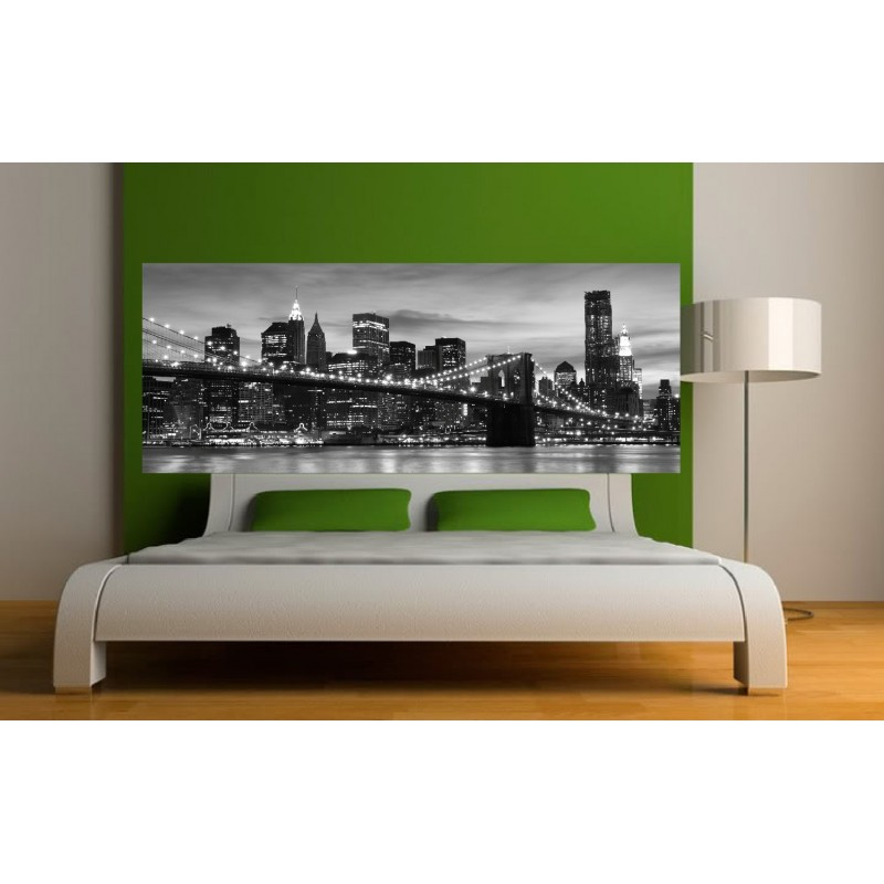 stickers t te de lit new york brooklyn art d co stickers. Black Bedroom Furniture Sets. Home Design Ideas