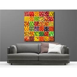 Tableaux toile déco carré fruits et légumes