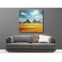 Tableaux toile déco carré Egypte Pyramide