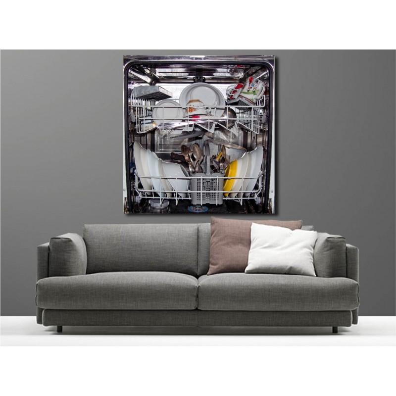 tableaux toile d co lave vaisselle art d co stickers. Black Bedroom Furniture Sets. Home Design Ideas