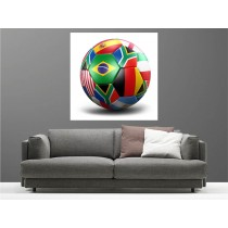 Tableaux toile déco ballon de foot