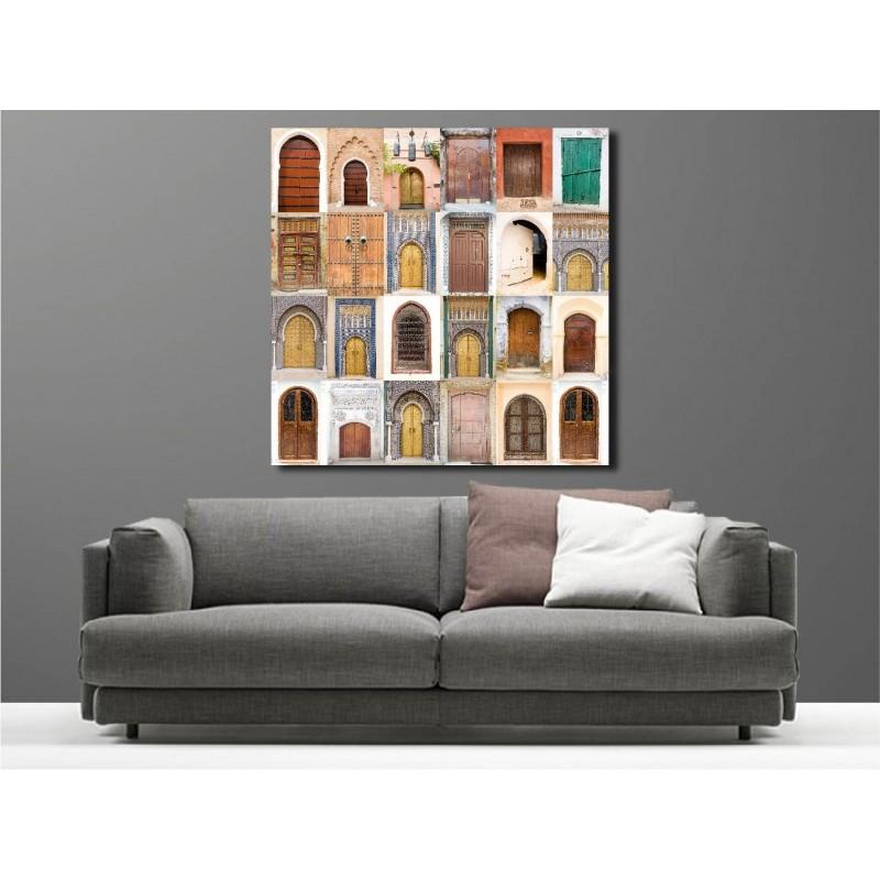 tableaux toile d co porte orientale art d co stickers. Black Bedroom Furniture Sets. Home Design Ideas