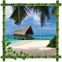 Sticker deco Bambou Maldives