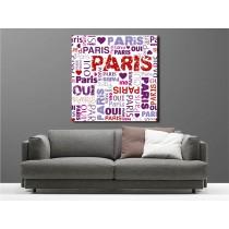 Tableaux toile déco carré Paris