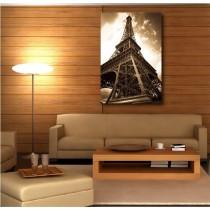 Tableaux toile déco rectangle verticale Tour Eiffel