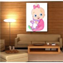 Tableaux toile déco rectangle verticale bébé
