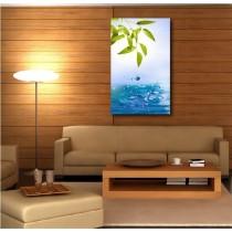 Tableaux toile déco rectangle verticale bambou