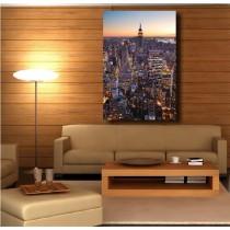 Tableaux toile déco rectangle verticale New York vue du ciel