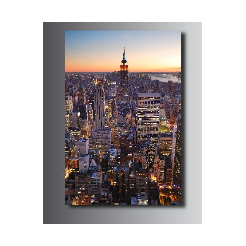 tableaux toile d co new york vue du ciel 5566041 art d co stickers. Black Bedroom Furniture Sets. Home Design Ideas