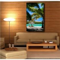 Tableaux toile déco rectangle verticale tropique