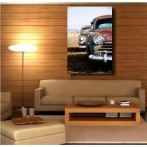 Tableaux toile déco rectangle voiture cuba