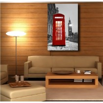 Tableaux toile déco rectangle verticale cabine anglaise