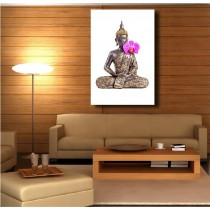 Tableaux toile déco rectangle verticale Bouddha