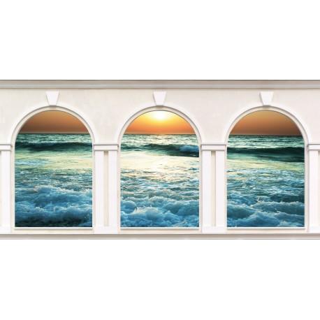 Sticker 3 Arches Couché de soleil