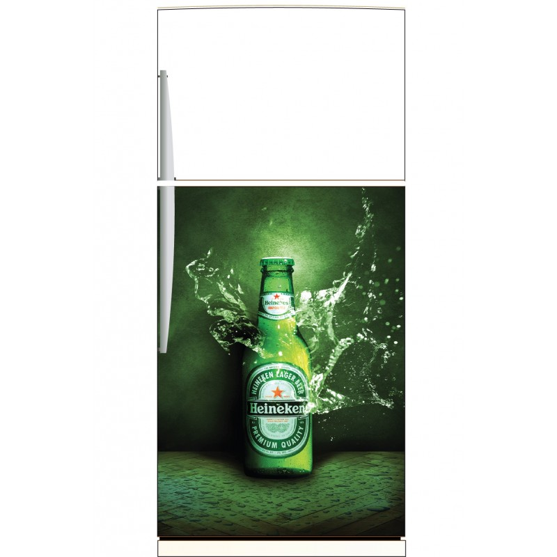 sticker frigo heineken ou sticker magnet frigo art. Black Bedroom Furniture Sets. Home Design Ideas