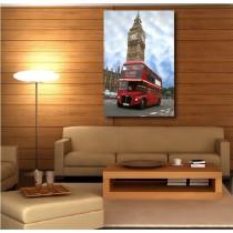 Tableaux toile déco rectangle bus Londres