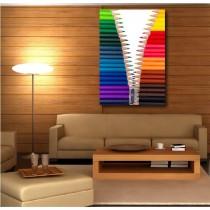 Tableaux toile déco rectangle verticale crayon de couleur