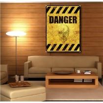 Tableaux toile déco rectangle verticale panneau danger