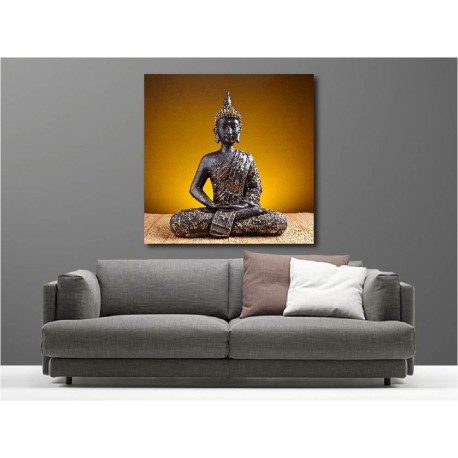 Tableaux toile déco carré Bouddha