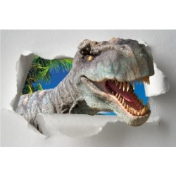 Sticker Trompe l'oeil Dinosaure Tyrex