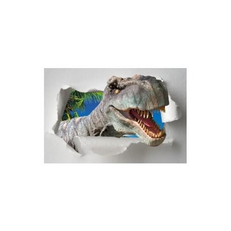 Sticker Trompe l'oeil Porte Dinosaure Tyrex