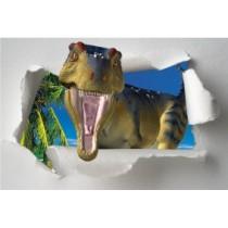Sticker Trompe l'oeil Dinosaure