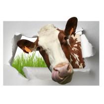 Sticker Trompe l'oeil Vache