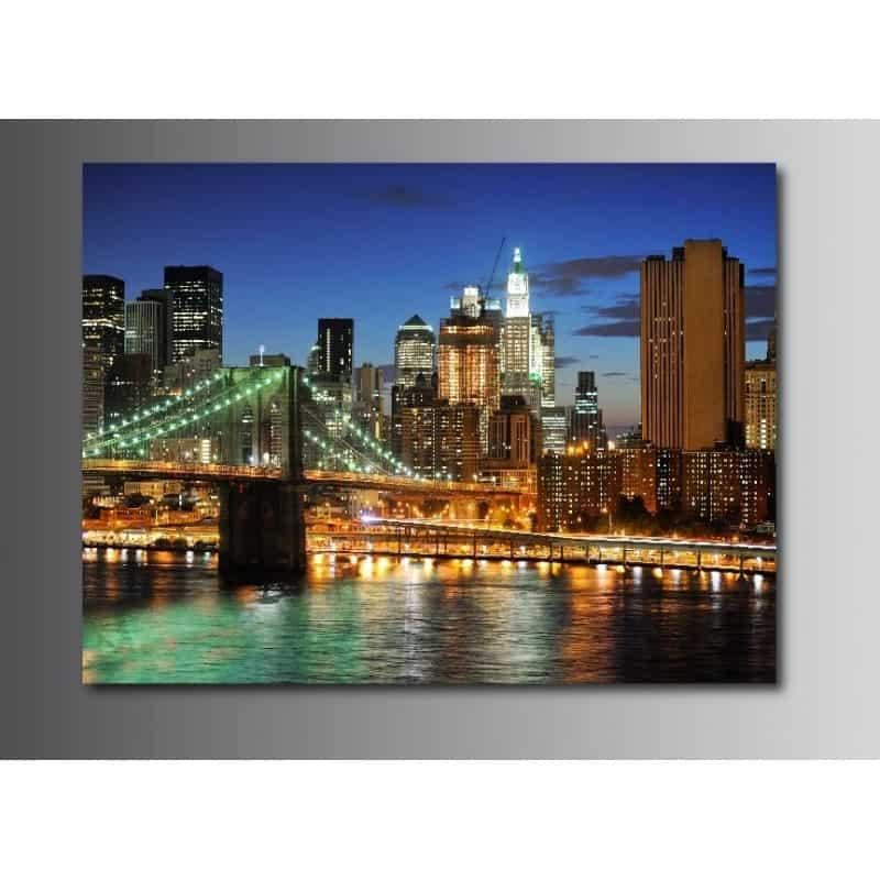 Tableaux toile d co new york pont de brooklyn 3196156 - Tableau toile new york ...