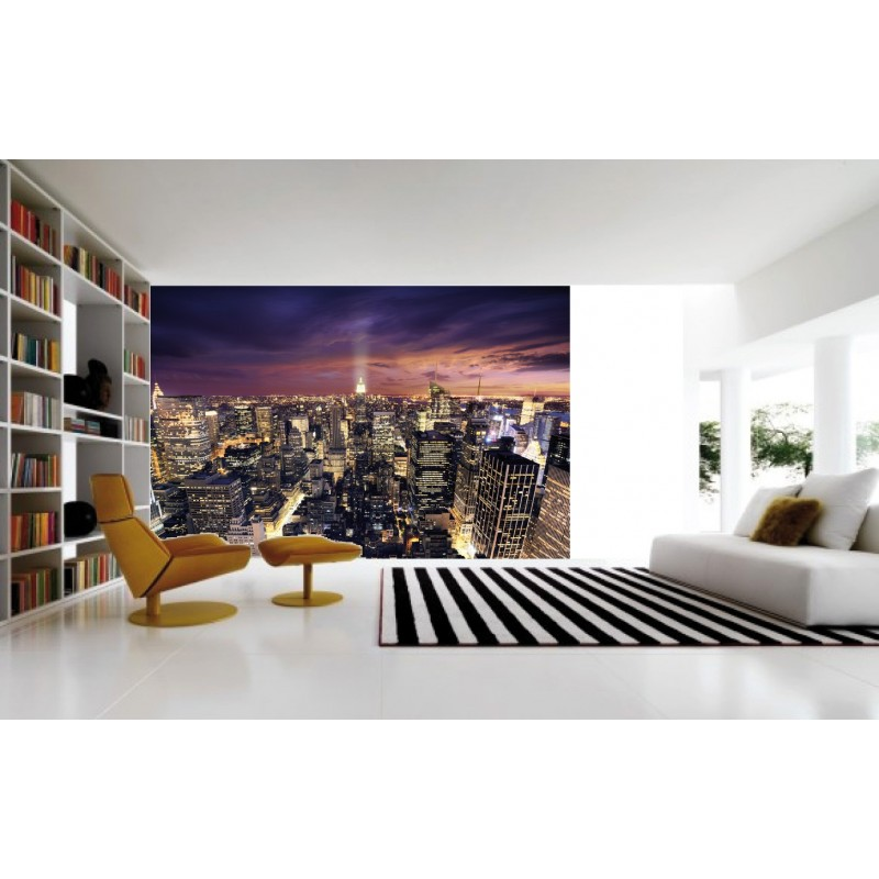 Sticker g ant new york 2 60 x 3 m tres art d co stickers for Autocollant mural new york