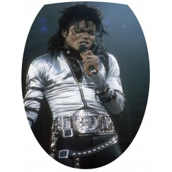 Sticker Abattant de WC Michael Jackson