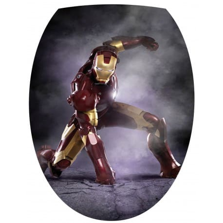 Sticker Abattant de WC Iron Man