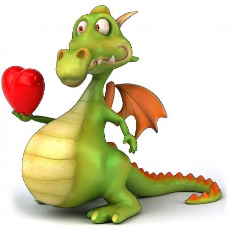 sticker Autocollant Dragon amoureux