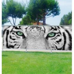 Sticker tête de lit décoration murale Yeux de tigre réf 3612