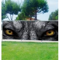 Brise-vue déco Yeux de Loup