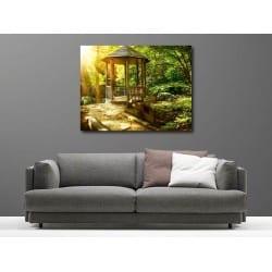 Tableaux toile déco rectangle forêt