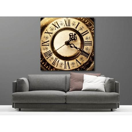 Tableaux toile déco carré horloge