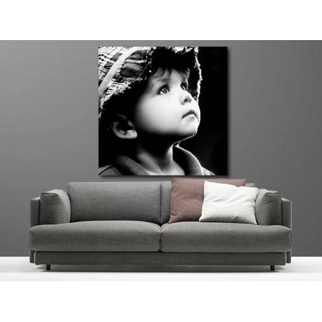 Tableaux toile déco carré portrait enfant